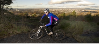 Mountain bike rider Rab Wardell at Cathkin Braes