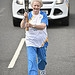 Batonbearer 019 Winifred Tulloch carries the Gl...