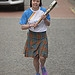 Batonbearer 023 Kirstie McBeath carries the Gla...