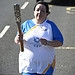 Batonbearer 008 Elaine Mitchell carries the Gla...