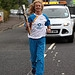 Batonbearer 009 Rhona Bushfield carries the Gla...