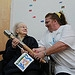 Batonbearer 019 Christine Getgood hands the Gla...