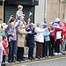 Members of the public welcome the Glasgow 2014 ...