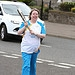 Batonbearer 027 Alison Walker carries the Glasg...